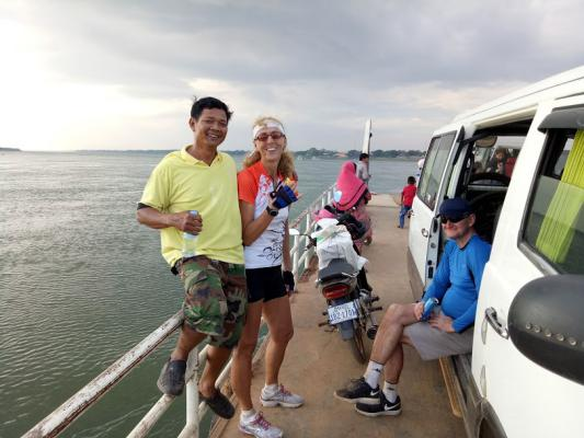 Ferry at Mekong, Cambodia Cycling Tour