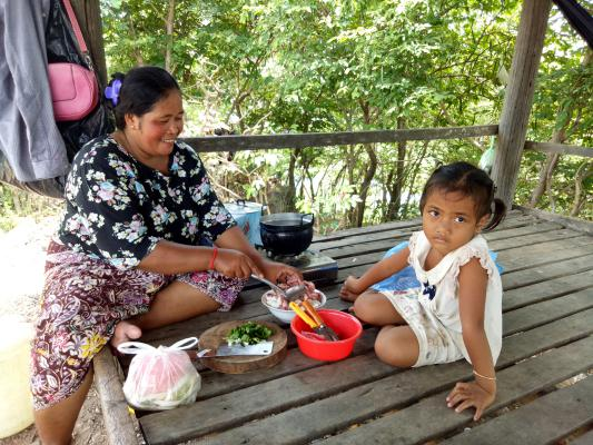 Great mother cooking recipe, Siem Reap Cycling Tour